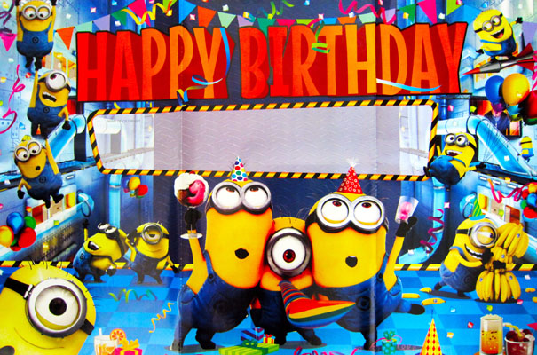 despicable me minion happy birthday poster banner party. Black Bedroom Furniture Sets. Home Design Ideas
